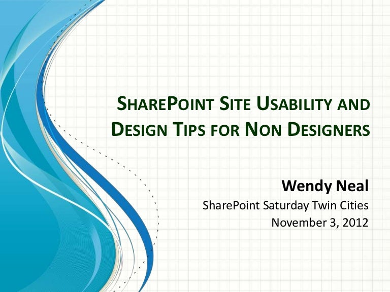 sharepoint site usability and design tips for non designers by share - Sharepoint Design Ideas