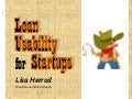 Lean Usability for startups