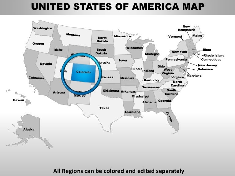 Usa Colorado State Powerpoint County Editable Ppt Maps And Templates - Us map that can be edited