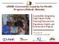 USAID Community Capacity for Health Program (Mahefa Miaraka)
