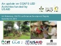 CCAFS Low emissions development (LED) activities funded by USAID