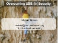 USB (In)Security 2008-08-22