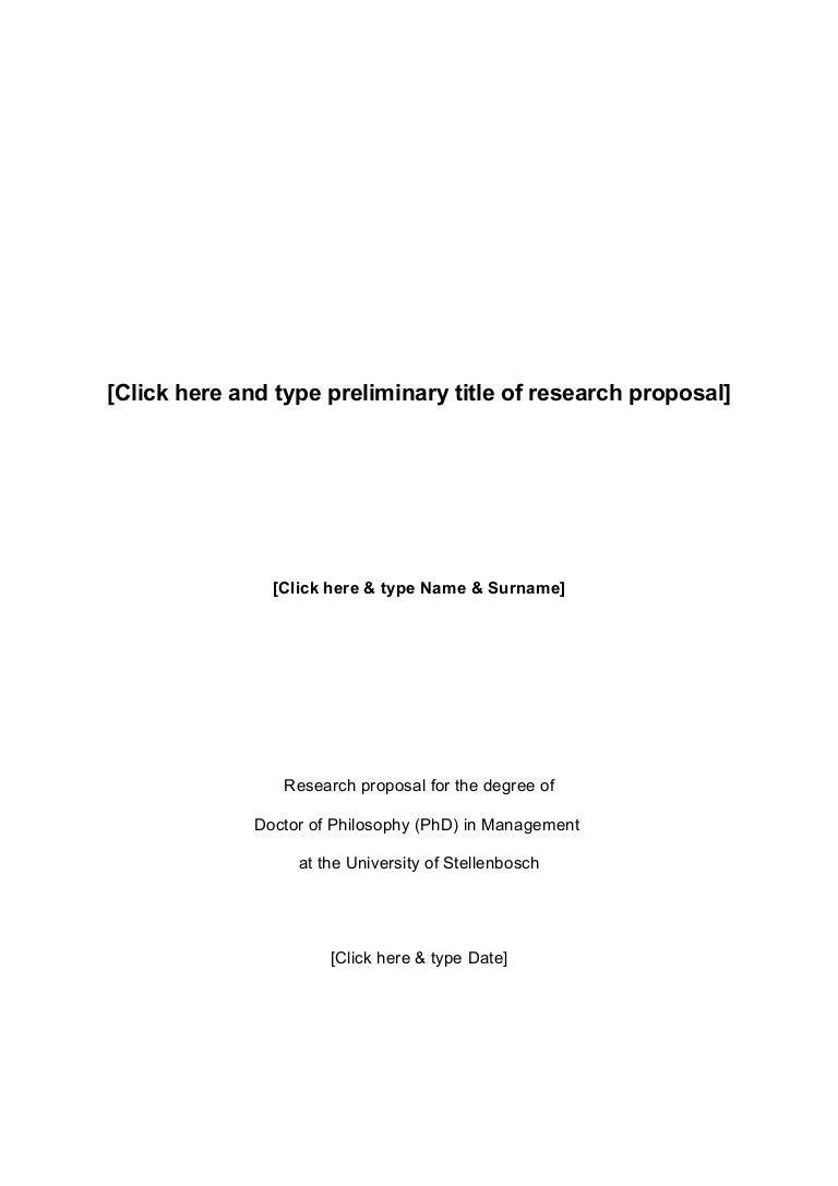 Phd research proposal on climate change