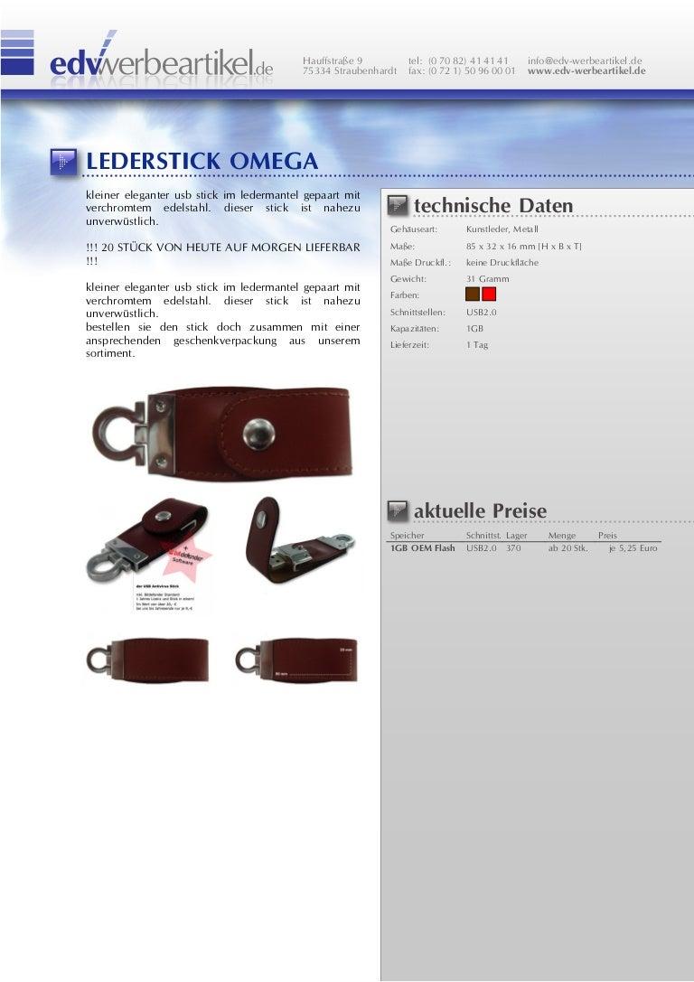 Usb Stick Leder Omega