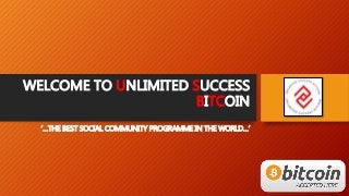 MARKETING PLAN USBTC UNLIMITED SUCCESS BITCOIN