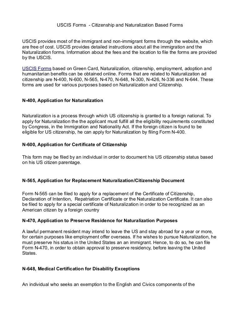Citizenship Form. Sample Citizenship Form N-400 Sample Citizenship ...