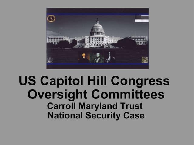 US Senate = Subcommittee Homeland Security = FBI Headquarters Carroll Maryland Trust Case