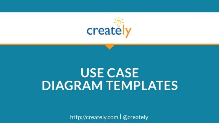Use Case Diagram Templates By Creately