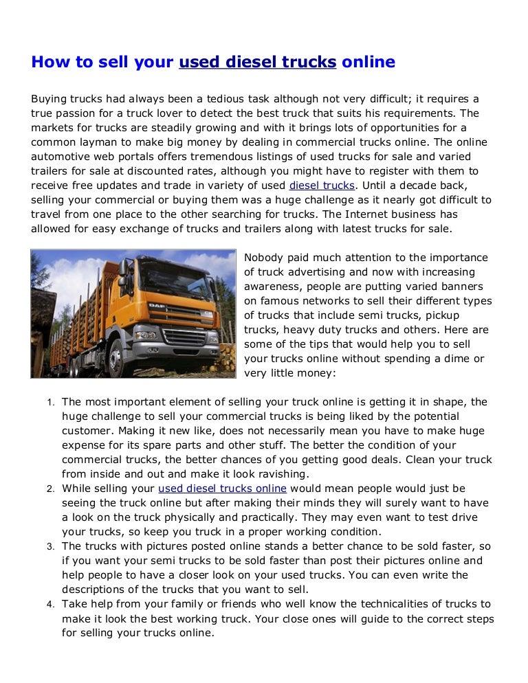 Used Diesel Trucks >> Buy And Sell Used Diesels Used Diesel Trucks For Sale