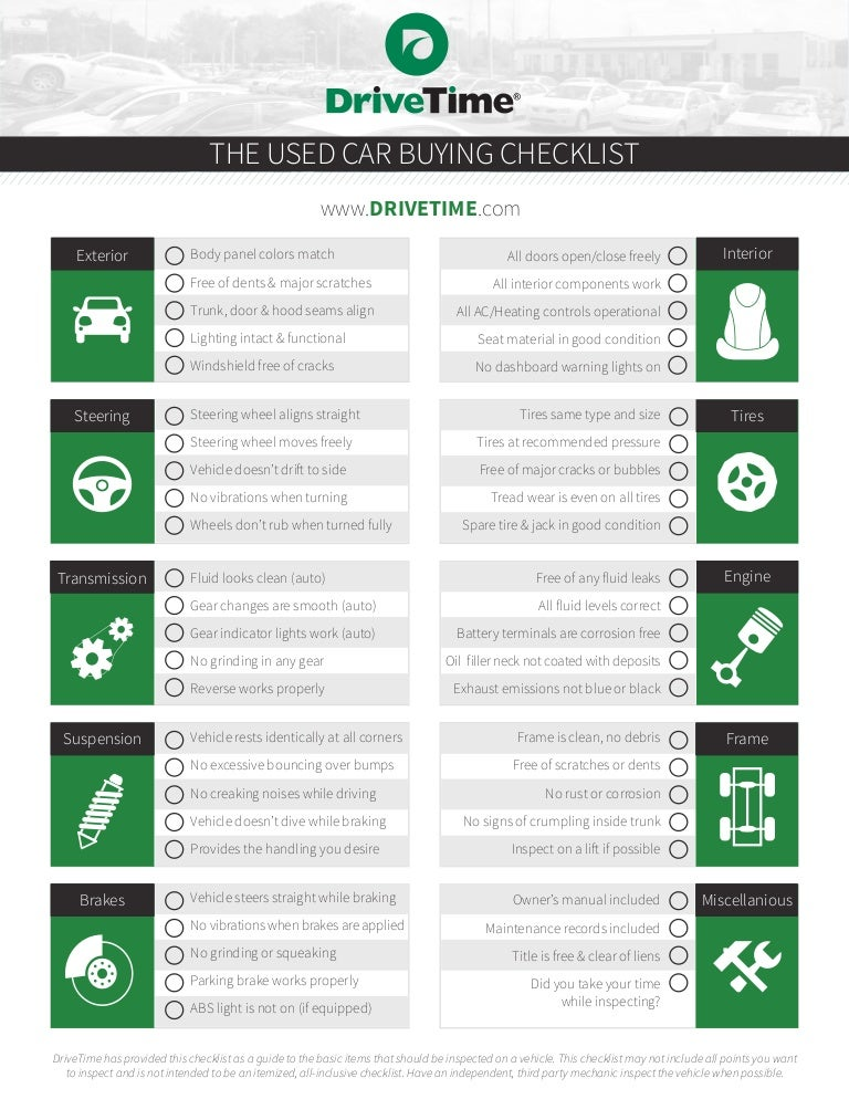 image regarding Used Car Inspection Checklist Printable known as Applied Auto Inspection List Expert