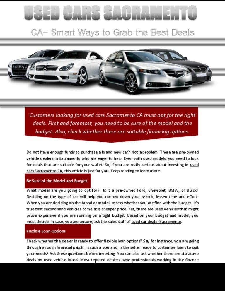 Used Cars Sacramento >> Used Cars Sacramento Ca Smart Ways To Grab The Best Deals