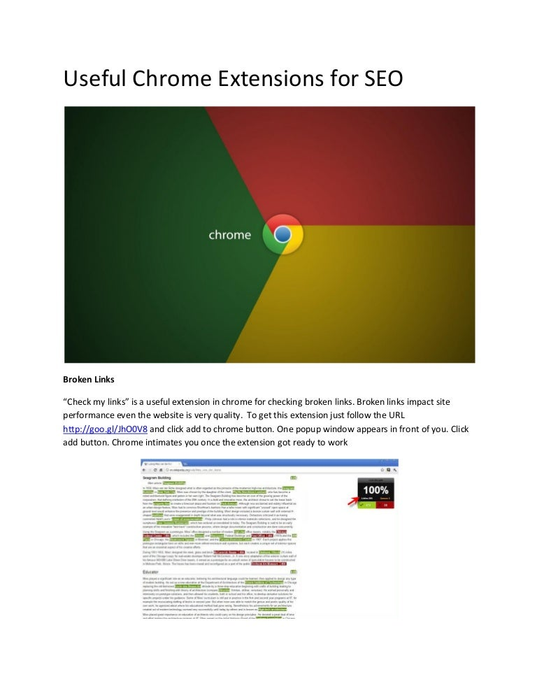 Useful Chrome Extensions For Seo