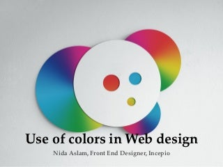 Use of colors in web and graphic design