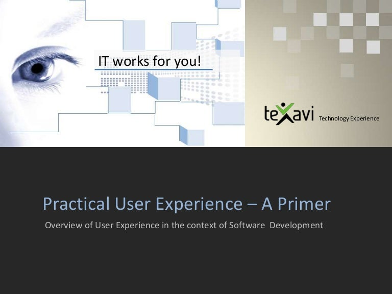 User Experience In Software Development A Primer