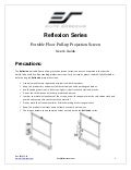 Elite Projection Screen User guide reflexion