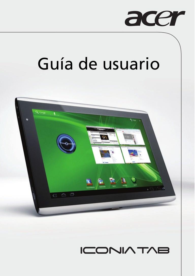 user manual acer 1 0 a a rh es slideshare net Acer Iconia Tab A500 Case Acer Iconia Tab A500 Case