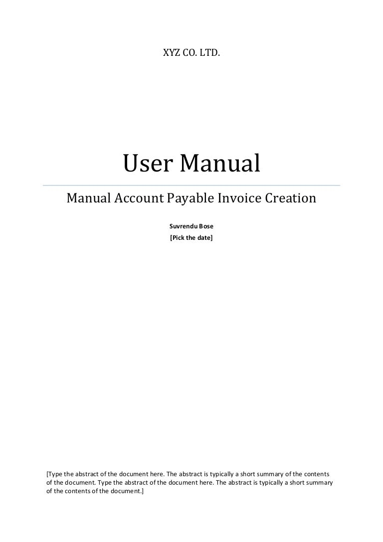 template user manual – Product Manual Template