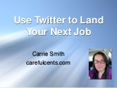 Use Twitter to Land Your Next Job