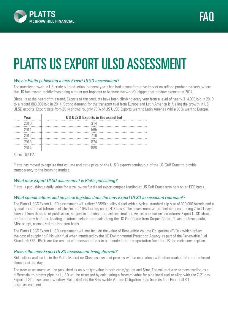 Us export ulsd_assessment PLATTS