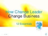 How Change Leaders Change Business