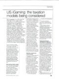 US iGaming : the taxation models being considered. Brad Polizzano