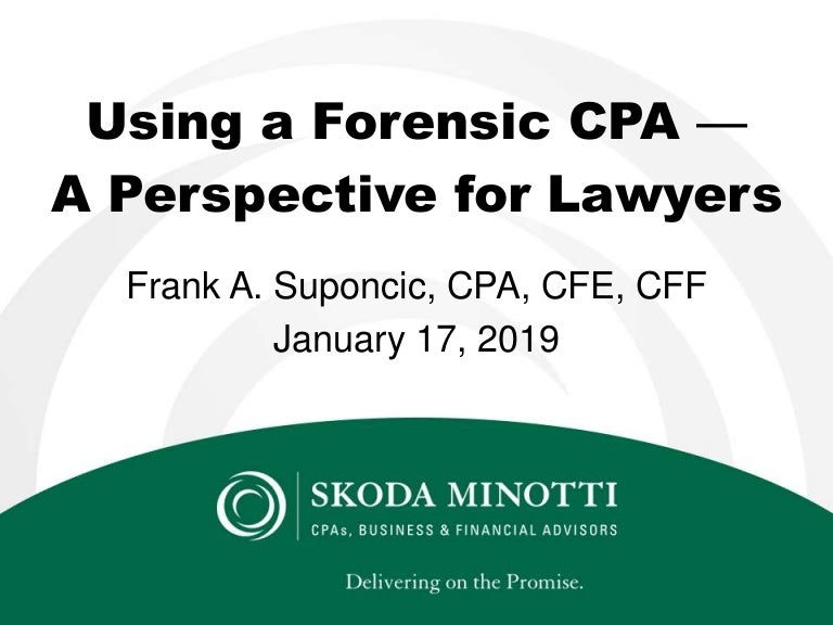 Using a Forensic CPA for Lawyers