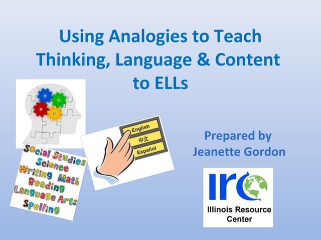 Using analogies to teach english language learners