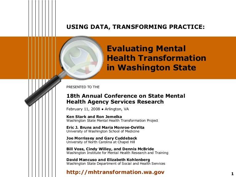 Using Data Transforming Practice Evaluating Mental Health Transform
