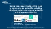 Using free social media online tools to communicate scientific activities and distribute data
