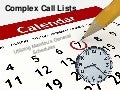 Using general schedules to manage complex call lists