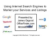 (2004) Using internet search engines to market your services