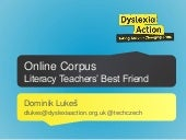 Using online corpus for literacy teachers