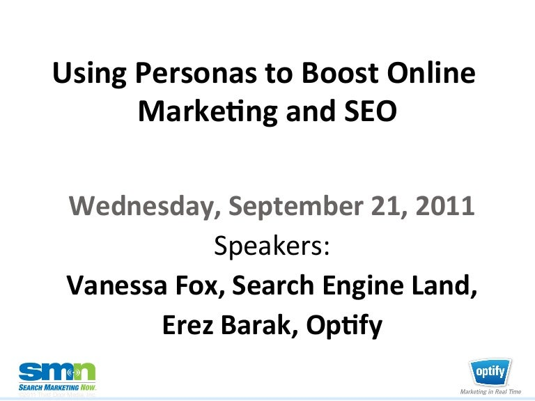 Using Personas to Boost Online Marketing and SEO