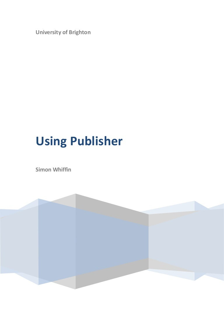 An introduction to MS Publisher