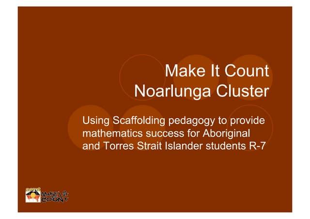 Using scaffolding pedagogy to provide mathematics success for aboriginal students