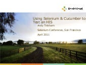 Using Selenium and Cucumber to test a Healthcare Information System