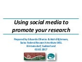 Using social media to promote your research