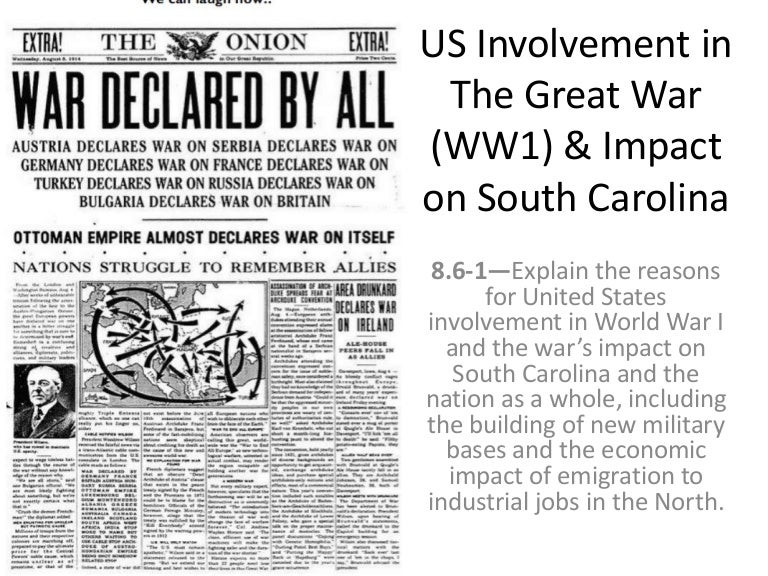 account of the leadership of president wilson and the united states involvement in world war i In 1912 woodrow wilson was elected president of the united states wilson successfully kept americans troops out of world war i during his first term however american involvement became inevitable later on in world war i as the european powers squared off in 1914 in what was to be four years of.