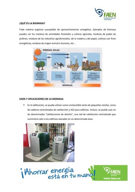 Usos y aplicaciones de la biomasa