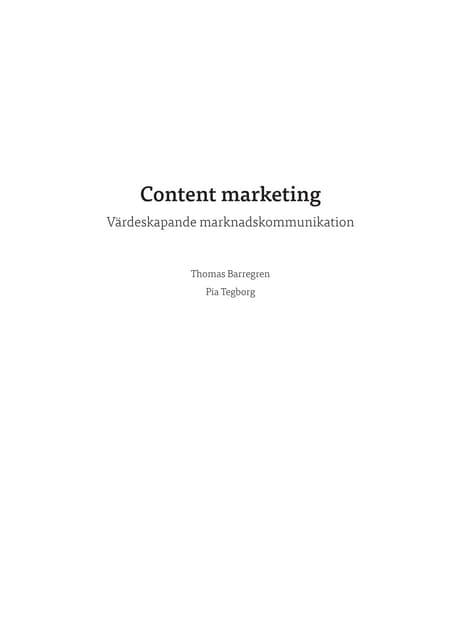 [Utdrag] Content marketing – värdeskapande marknadskommunkation