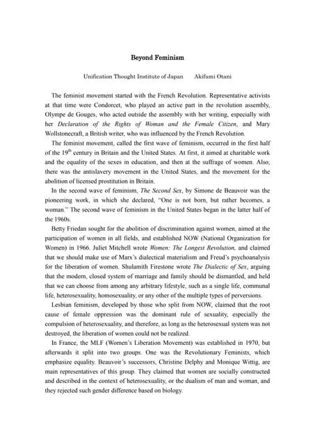 Radikalni feminism essay