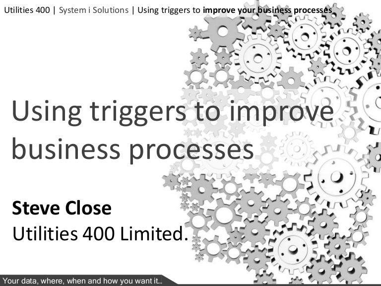 Utilities 400 NiSUG Trigger Presentation