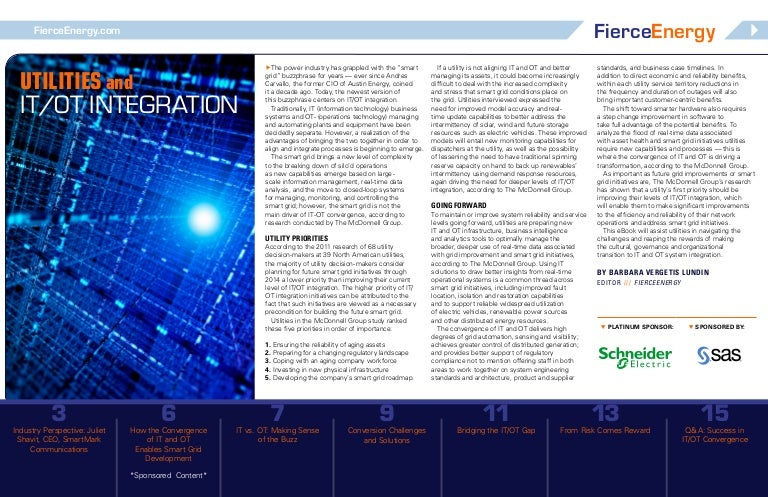 Ebook] Utilities and IT/OT Integration