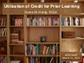 Utilization of Credit for Prior Learning