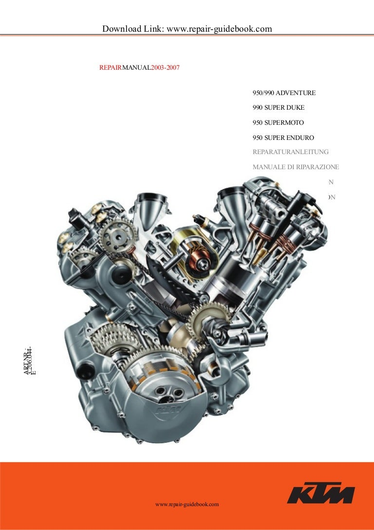 2003 To 2007 Ktm 950 990 Super Duke Ra Lc8 Service Repair Manual 640 Adventure Wiring Diagram