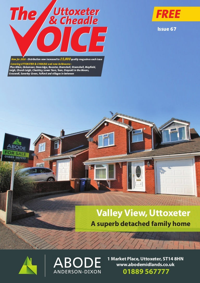 Uttoxeter & Cheadle Voice, Issue 67 on