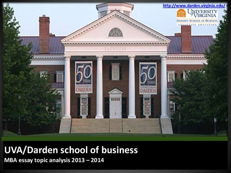 darden school of business mba essay topic analysis