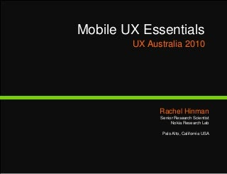 Mobile UX Essentials