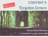 Content's Forgotten Corners – UX Craft Meetup