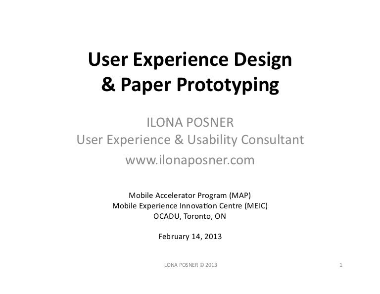 User Experience Design Paper Prototyping